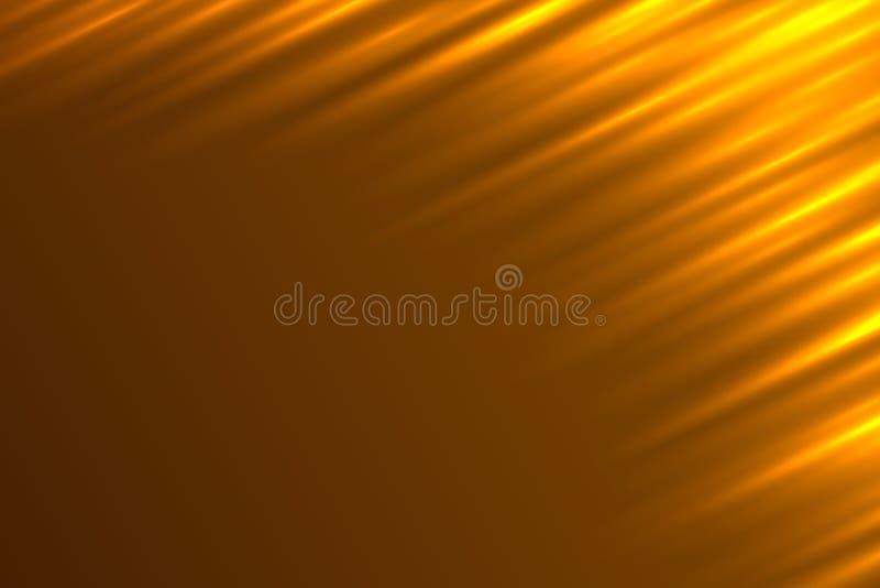 Abstracte Lichte Stralen Oranje Vectorachtergrond stock illustratie