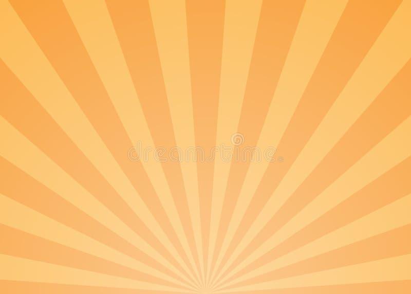 Abstracte Lichte Stralenachtergrond stock illustratie