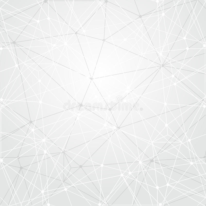 Abstracte lichte technologie-achtergrond Het concept van de aansluting Veelhoekig behang De achtergrond van de wetenschap Helder  royalty-vrije illustratie