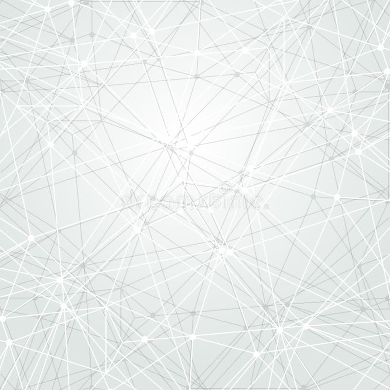 Abstracte lichte technologie-achtergrond Het concept van de aansluting Veelhoekig behang De achtergrond van de wetenschap Helder  stock illustratie
