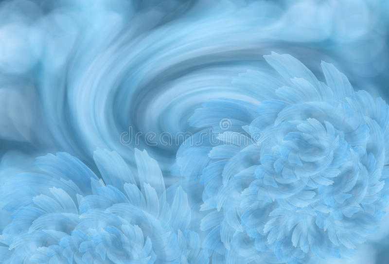Abstracte lichte turkooise achtergrond met lichte wit-blauwe pioenbloemen Gelukkige Moederdag! kaartconcept stock foto's