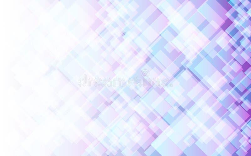 Abstracte lichte violette en blauwe vierkante achtergrond, vector vector illustratie