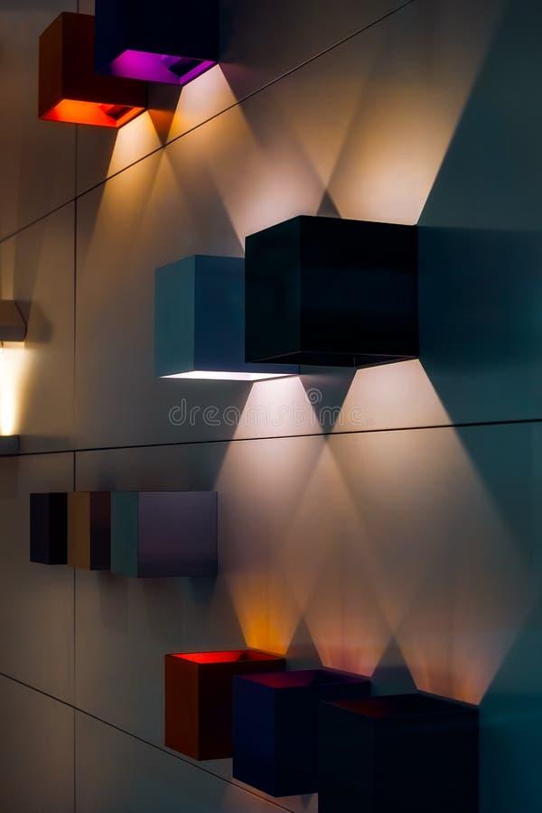 Abstracte lichten en schaduwen royalty-vrije stock fotografie