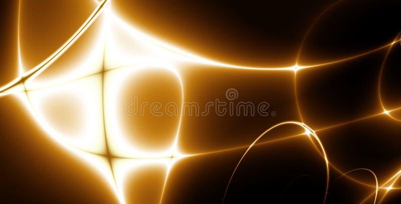 Abstracte lichten. fractal_02e stock illustratie