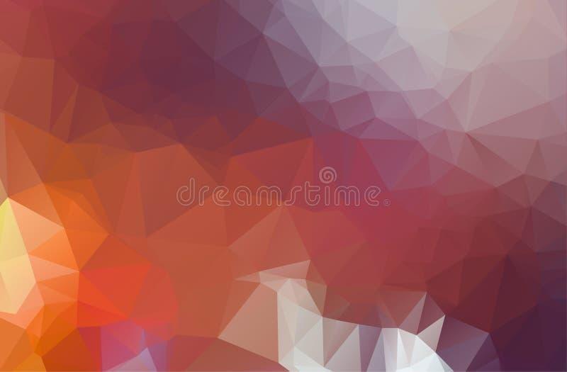 Abstracte Lichtpaars, pastelkleur vectorpatroon driehoekig malplaatje Geometrische steekproef Het herhalen van routine met drieho stock illustratie