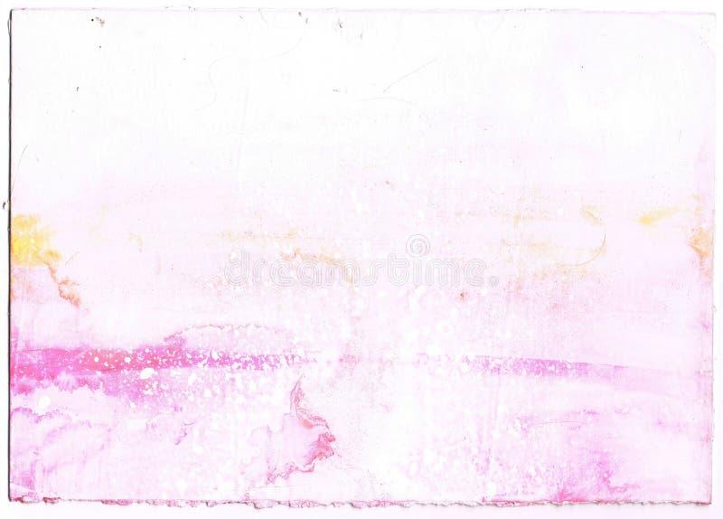 Abstracte lichtrose waterverfachtergrond royalty-vrije illustratie