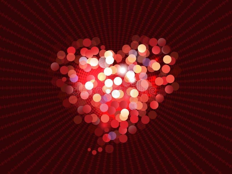 Abstracte liefde bokeh achtergrond vector illustratie