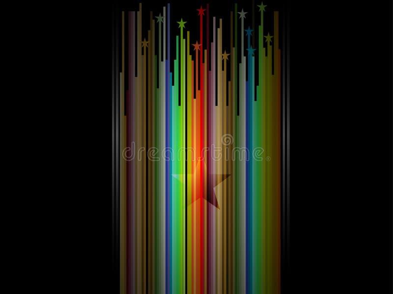 Abstracte lijn gestreepte veelkleurige achtergrond royalty-vrije illustratie