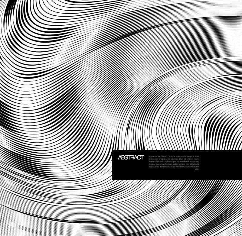 Abstracte lijnachtergrond. Ontwerpmalplaatje vector illustratie
