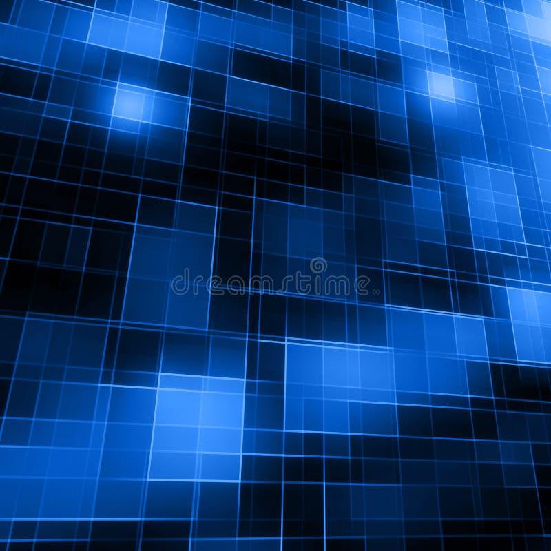 Abstracte lijnen blauwe geometrische vorm die op donkere achtergrond gloeien vector illustratie