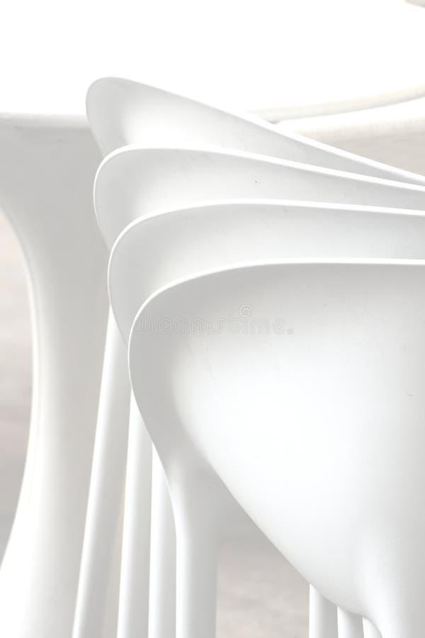 Abstracte lijnen in modern meubilair stock foto's