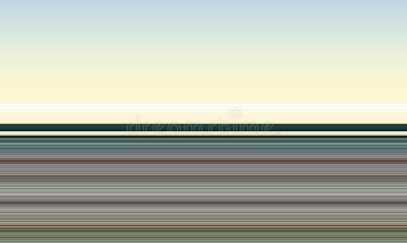 Abstracte lijnen in violette blauwe bruine tinten, abstract achtergrond en ontwerp in pastelkleurtinten stock illustratie