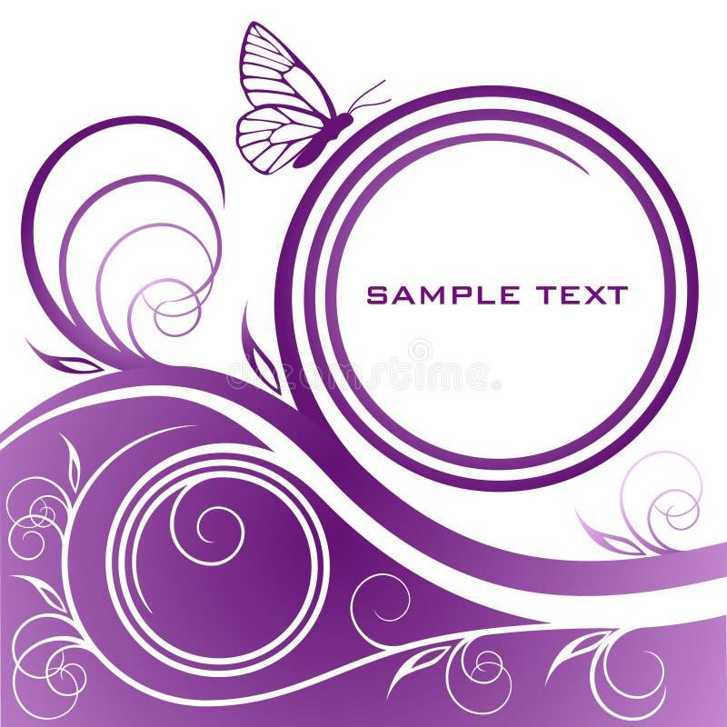 Abstracte lilac bloemenachtergrond vector illustratie
