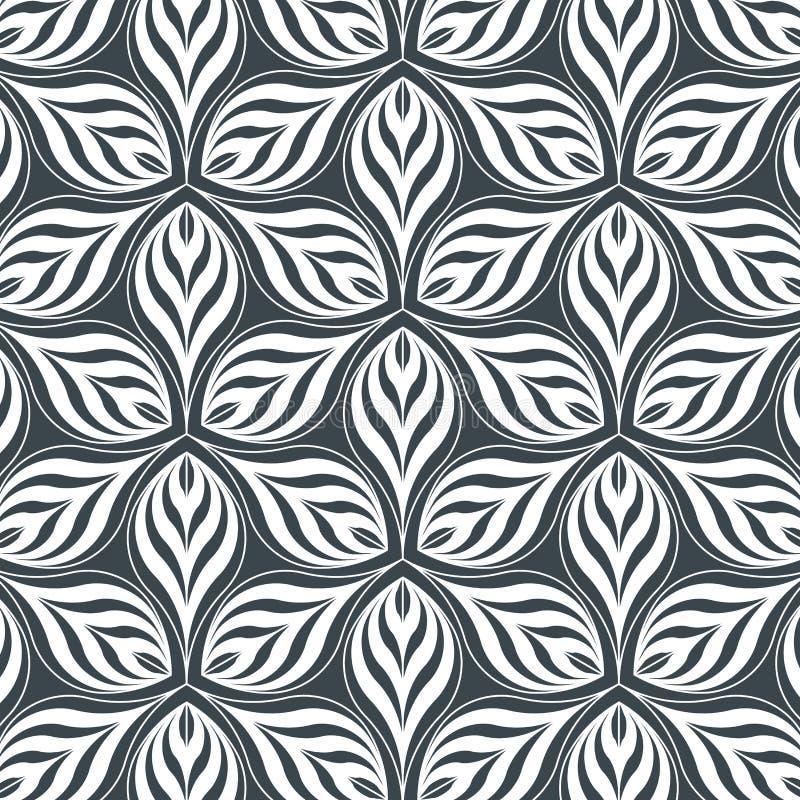 Abstracte lineaire bloemblaadjebloem Vector patroon vector illustratie