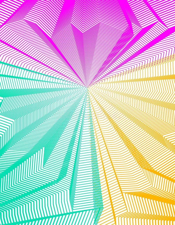 Abstracte lineaire geweven vectorkunstachtergrond voor ontwerp, psych vector illustratie