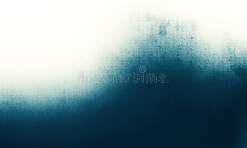 Abstracte luxe blauwe achtergrond, oude blauwe het kader witte grijze achtergrond van de vignetgrens, uitstekend grunge achtergro vector illustratie
