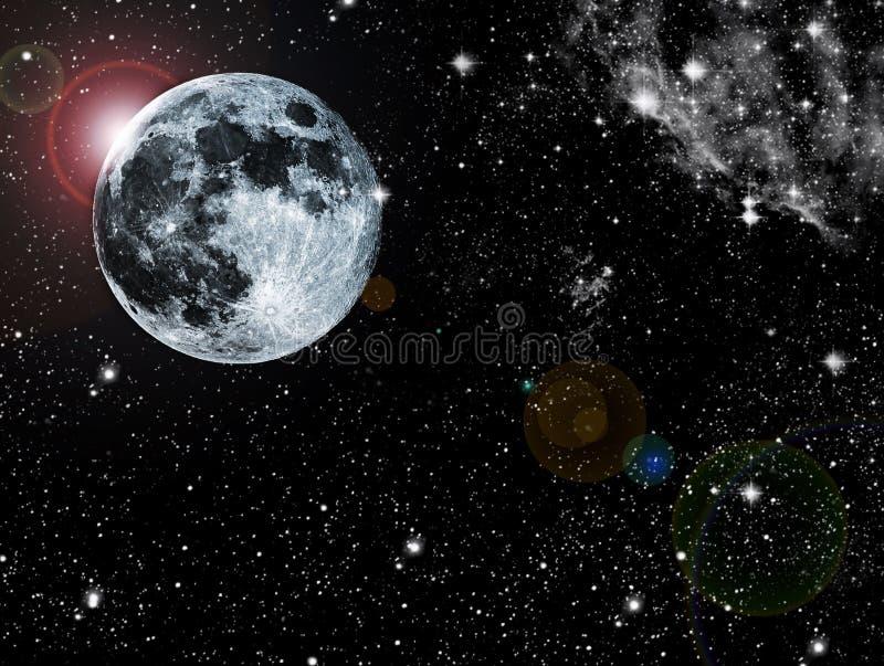 Abstracte maan vector illustratie