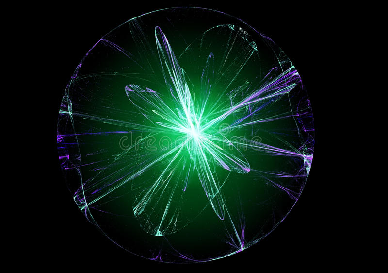 Abstracte magische bal stock illustratie