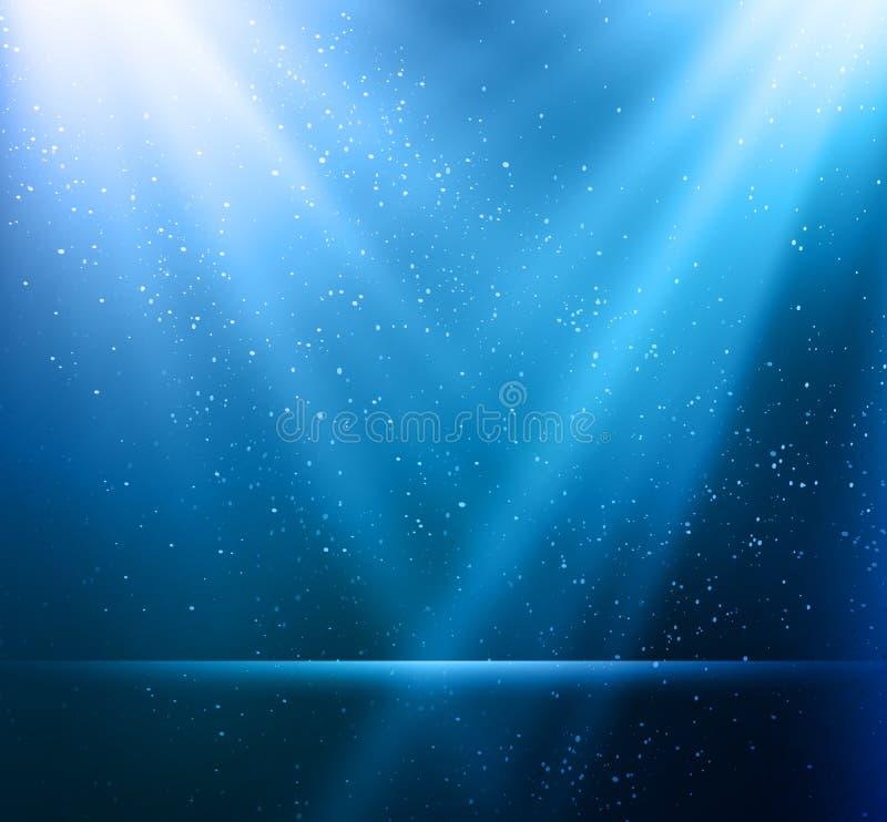 Abstracte magische blauwe lichte achtergrond vector illustratie