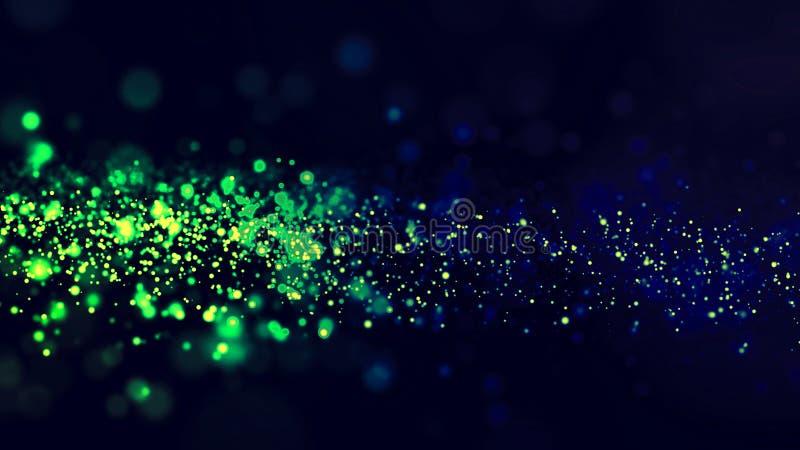 Abstracte magische deeltjes als achtergrond stock foto's