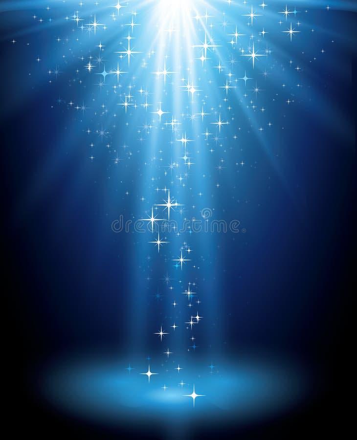 Abstracte magische lichte achtergrond vector illustratie