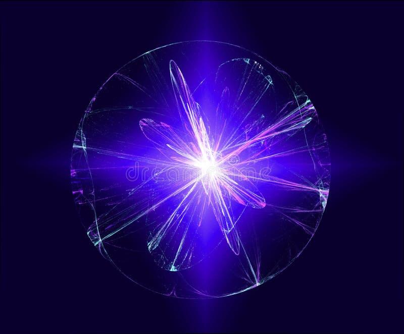 Abstracte magische lichte bal royalty-vrije stock afbeelding