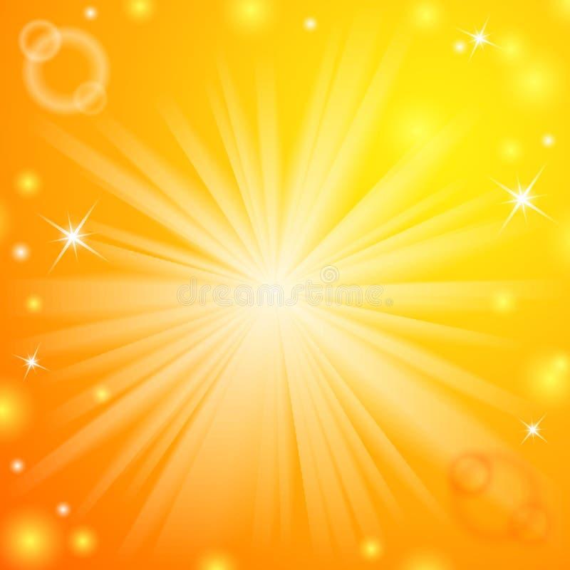 Abstracte magische lichtoranje achtergrond vector illustratie