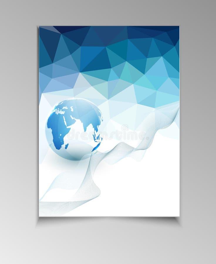 Abstracte malplaatjebrochure voor zaken stock illustratie