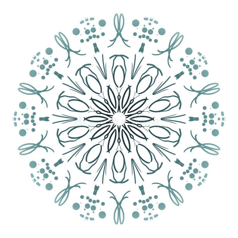 Abstracte mandala Digitaal ontwerp met funky lijnen royalty-vrije stock afbeeldingen