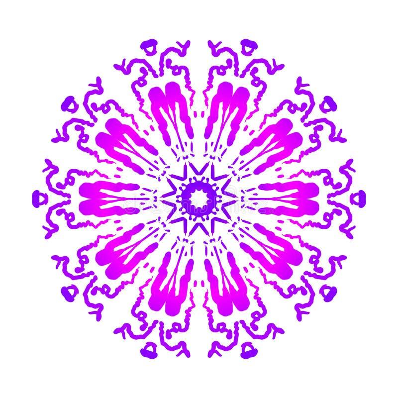 Abstracte mandala Digitaal ontwerp met funky lijnen royalty-vrije stock fotografie
