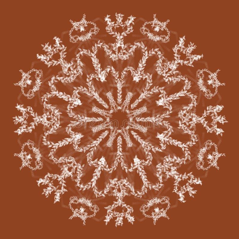 Abstracte mandala Digitaal ontwerp met funky lijnen stock foto