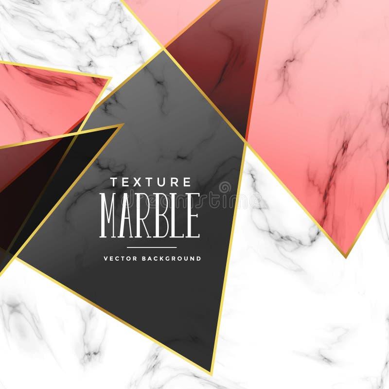 Abstracte marmeren textuur met geometrische vormen stock illustratie