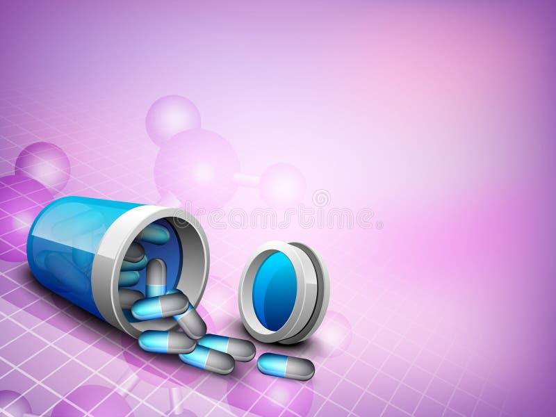 Abstracte medische achtergrond. royalty-vrije illustratie