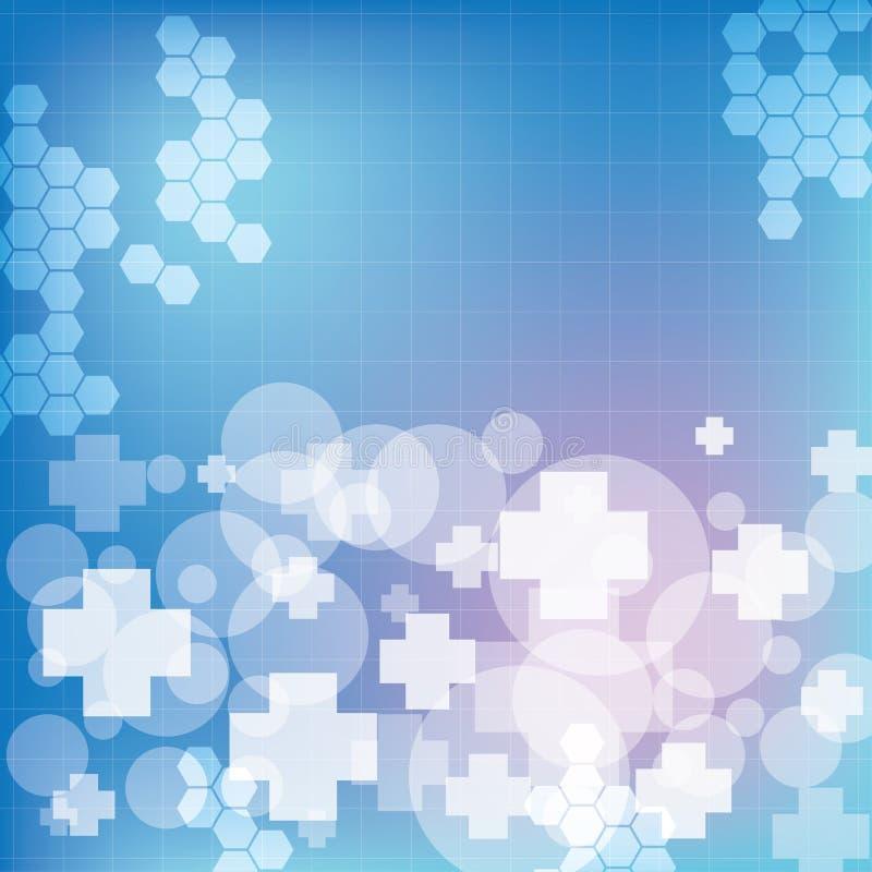 Abstracte medische blauwe lichte kleurenachtergrond stock illustratie