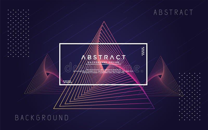 Abstracte meetkunde moderne achtergrond stock illustratie