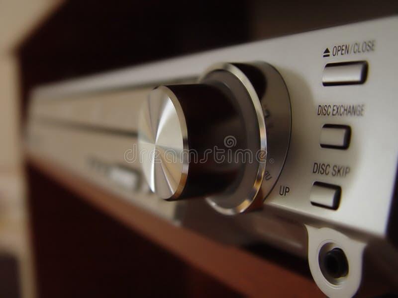 Abstracte mening van Stereo-installatie royalty-vrije stock afbeeldingen