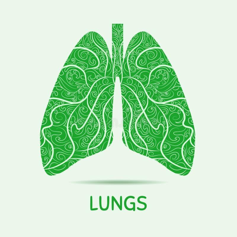 Abstracte menselijke longen Grafische illustratie stock illustratie