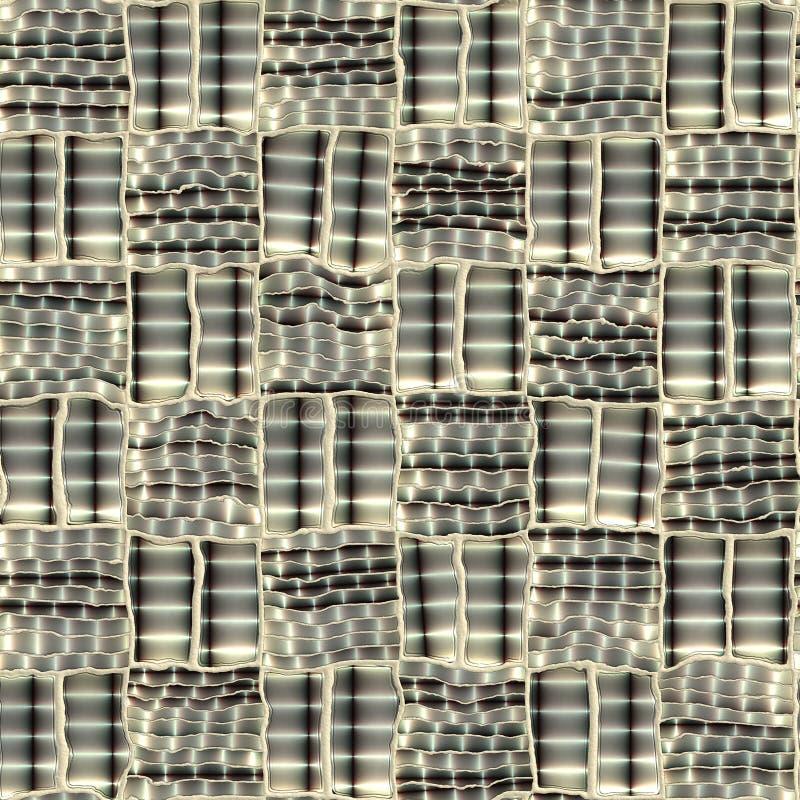 Abstracte metaal naadloze textuur. royalty-vrije illustratie