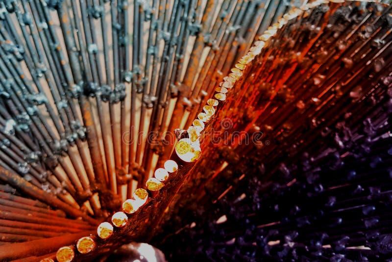 Abstracte metaalachtergrond, gefiltreerd effect royalty-vrije stock fotografie