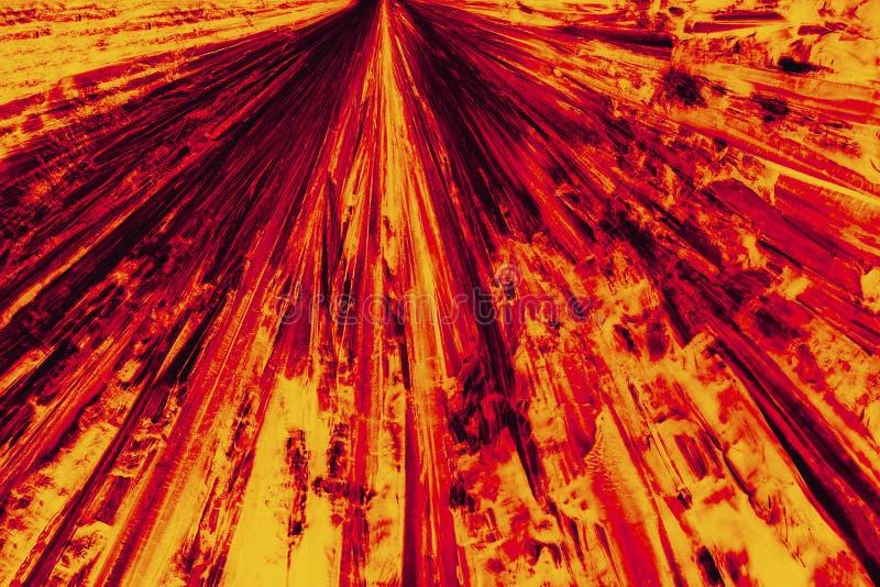 Abstracte micrograaf van helder rood en oranje patroon van lysine c royalty-vrije stock foto's