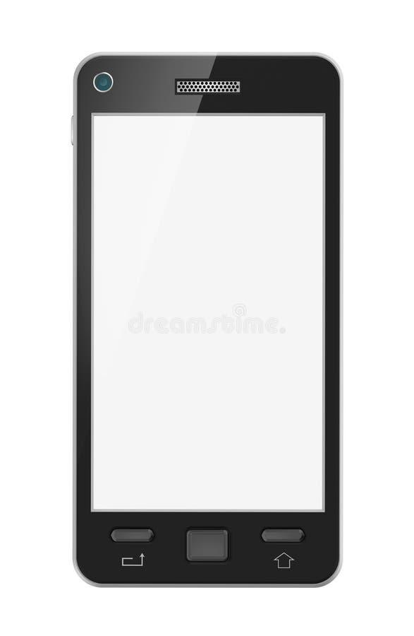 Abstracte mobiele telefoon met het lege scherm. Geïsoleerdh. Mijn ontwerp. vector illustratie