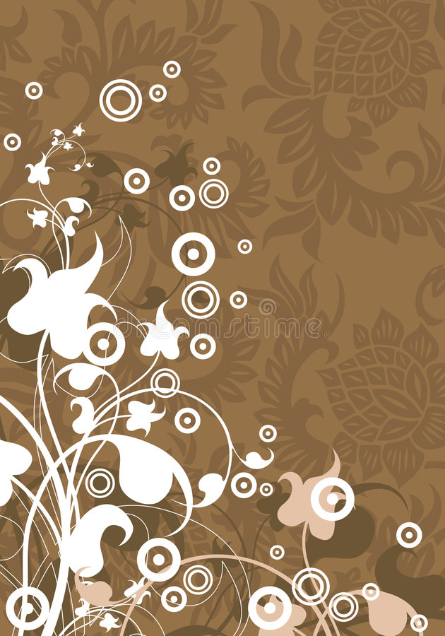 Abstracte moderne achtergrond met bloemenelementen, vectorillustra royalty-vrije illustratie