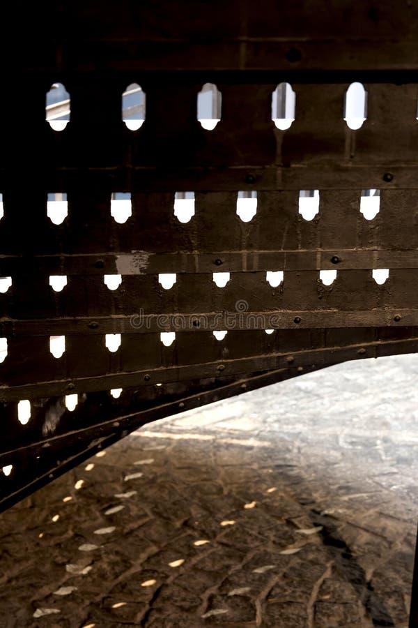 Abstracte Moderne Architectuur Schaduwen en Licht stock afbeeldingen