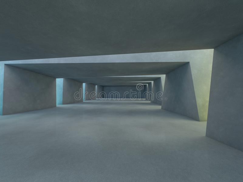 Abstracte moderne architectuurachtergrond het 3d teruggeven royalty-vrije illustratie