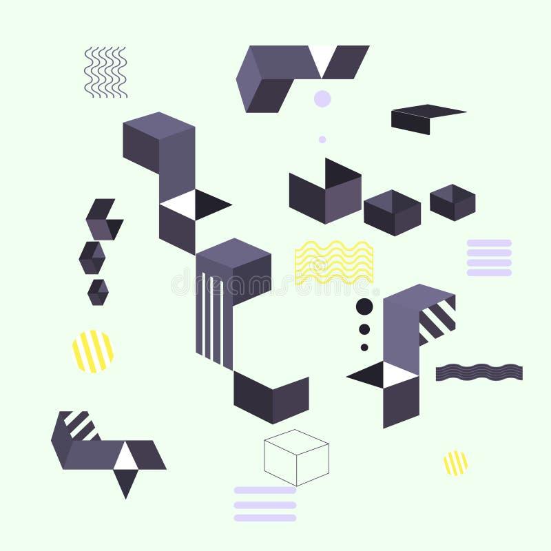 Abstracte moderne geometrische achtergrond De vormen van de ontwerpbanner vector illustratie