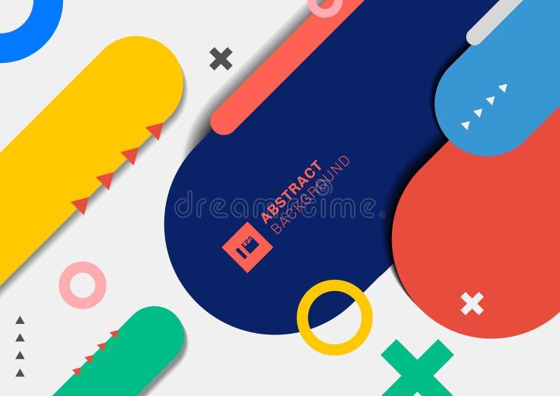Abstracte moderne geometrische kleurrijke rond gemaakte lijn op witte achtergrond vector illustratie