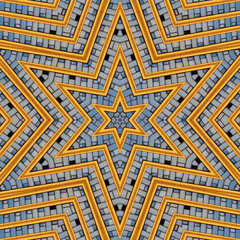 Abstracte moderne grafische patrooncaleidoscoop stock illustratie
