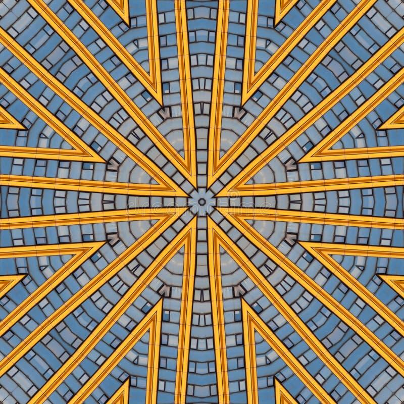 Abstracte moderne grafische patrooncaleidoscoop royalty-vrije illustratie