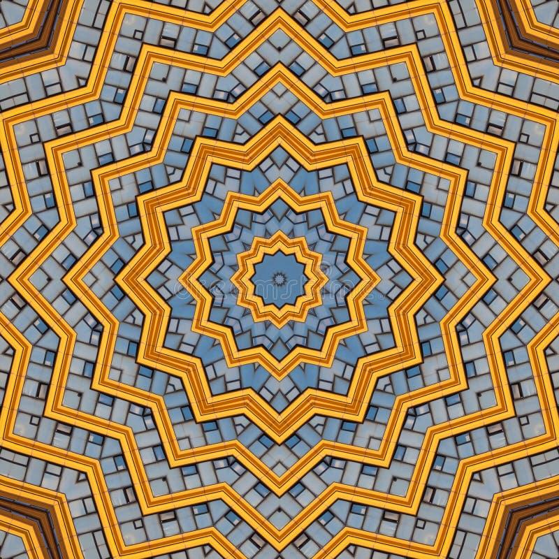 Abstracte moderne grafische patrooncaleidoscoop vector illustratie