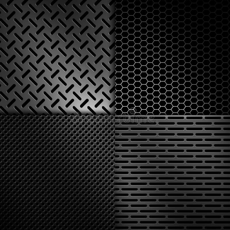 Abstracte moderne grijze geperforeerde metaalplaat vector illustratie